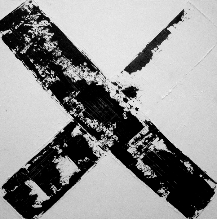 Bridget Griggs abstract paintings/ Toronto abstract artist/ black and white paintings, contemporary