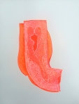 #5 Fluorescent Infinity Infinities, abstract painting on paper