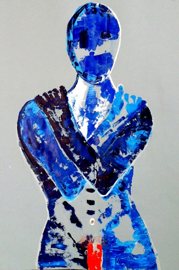 Bridget Griggs abstract art/ Toronto abstract artist/ blue nudes