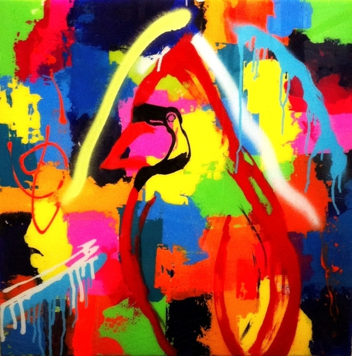 Bridget Griggs abstract paintings/ Toronto abstract artist/ Cardinals