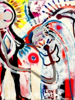 STARMAN Tribute to David Bowie, Bridget Griggs Abstract Expressionist Artist