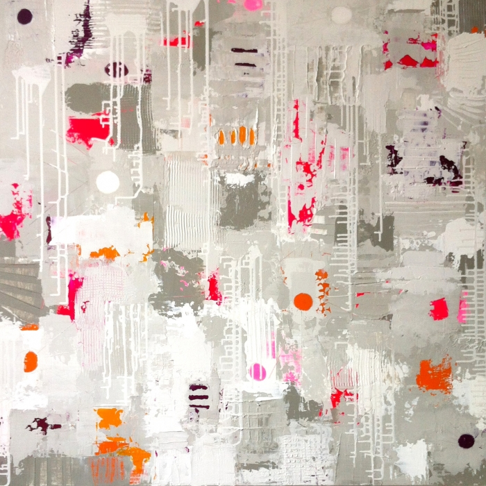 Bridget Griggs abstract art/ vibrant painting/ texture